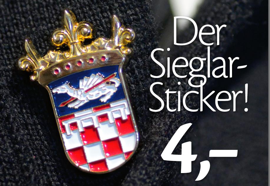 Könige Sieglar: Der neue Sieglar-Sticker!